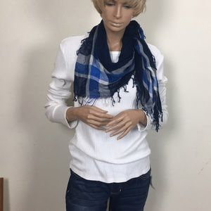 Guess Ribbed Long Sleeved Cotton Shirt with scarf